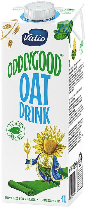 Овсяный напиток Valio Oddlygood, обогащенный витаминами и минералами, 1 л  #1