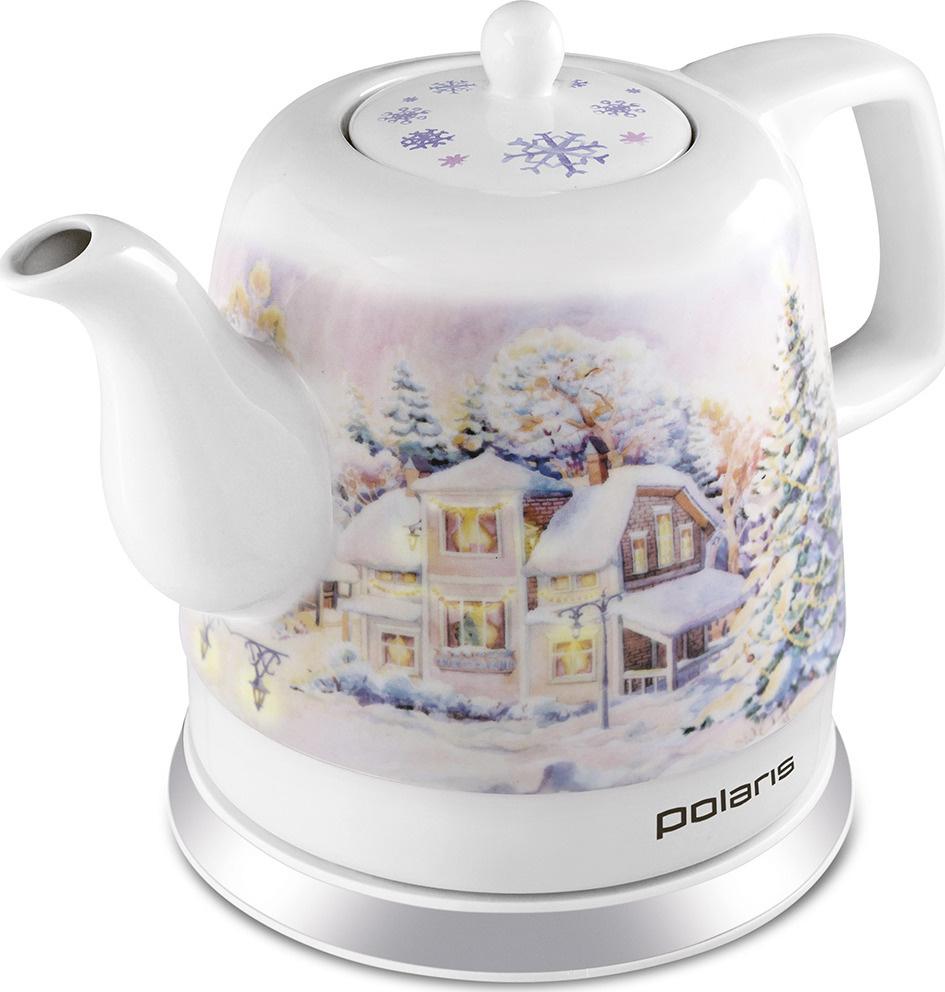 Электрический чайник Polaris PWK 1283CCR Снежная Зима, белый #1