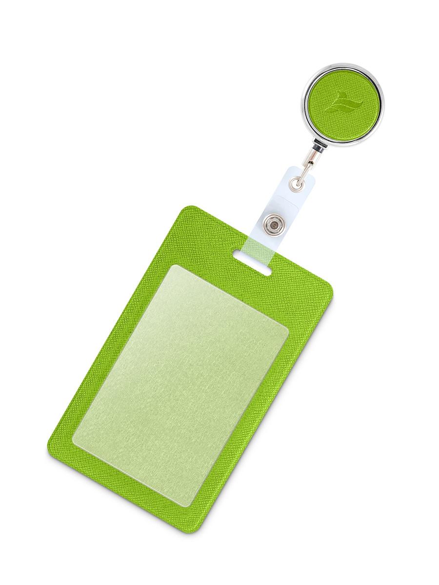 Держатель для пропуска, бейджа, чехол для карт доступа с рулеткой / Карман обложка для проездного  #1