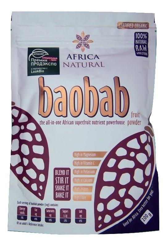 Порошок из плодов баобаба (Органик), Africa Natural, 200г #1