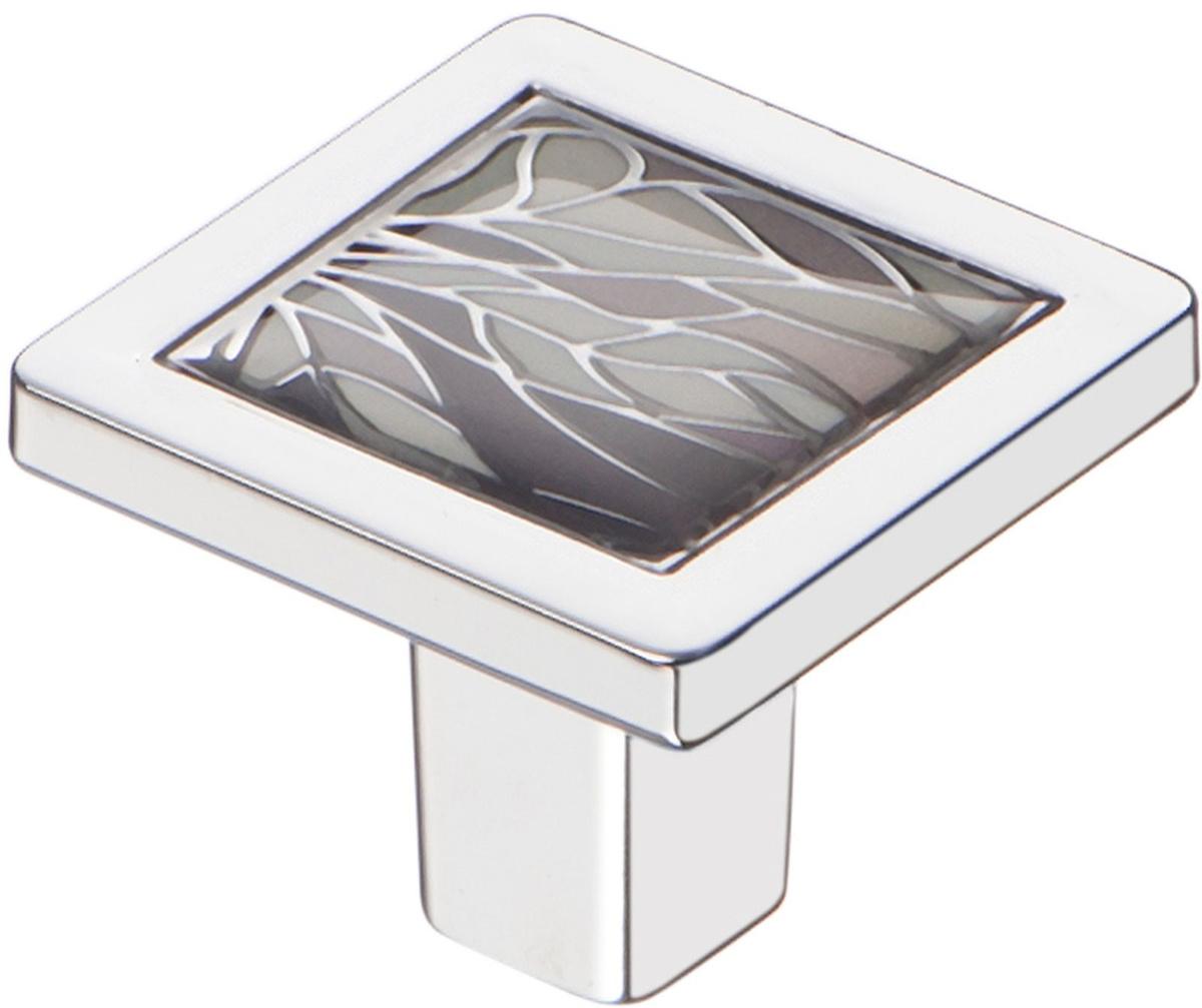 Ручка мебельная Kerron Jungle, кнопка, хром, 3 х 3 х 2,4 см #1