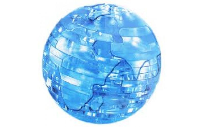 3d crystall puzzle. 3D кристаллические пазлы. Глобус со светом. цвет синий  #1