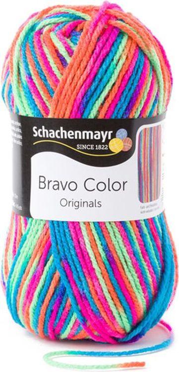 Пряжа для вязания Schachenmayr Originals Bravo Color, электра (00095), 266 м, 50 г, 3 шт  #1