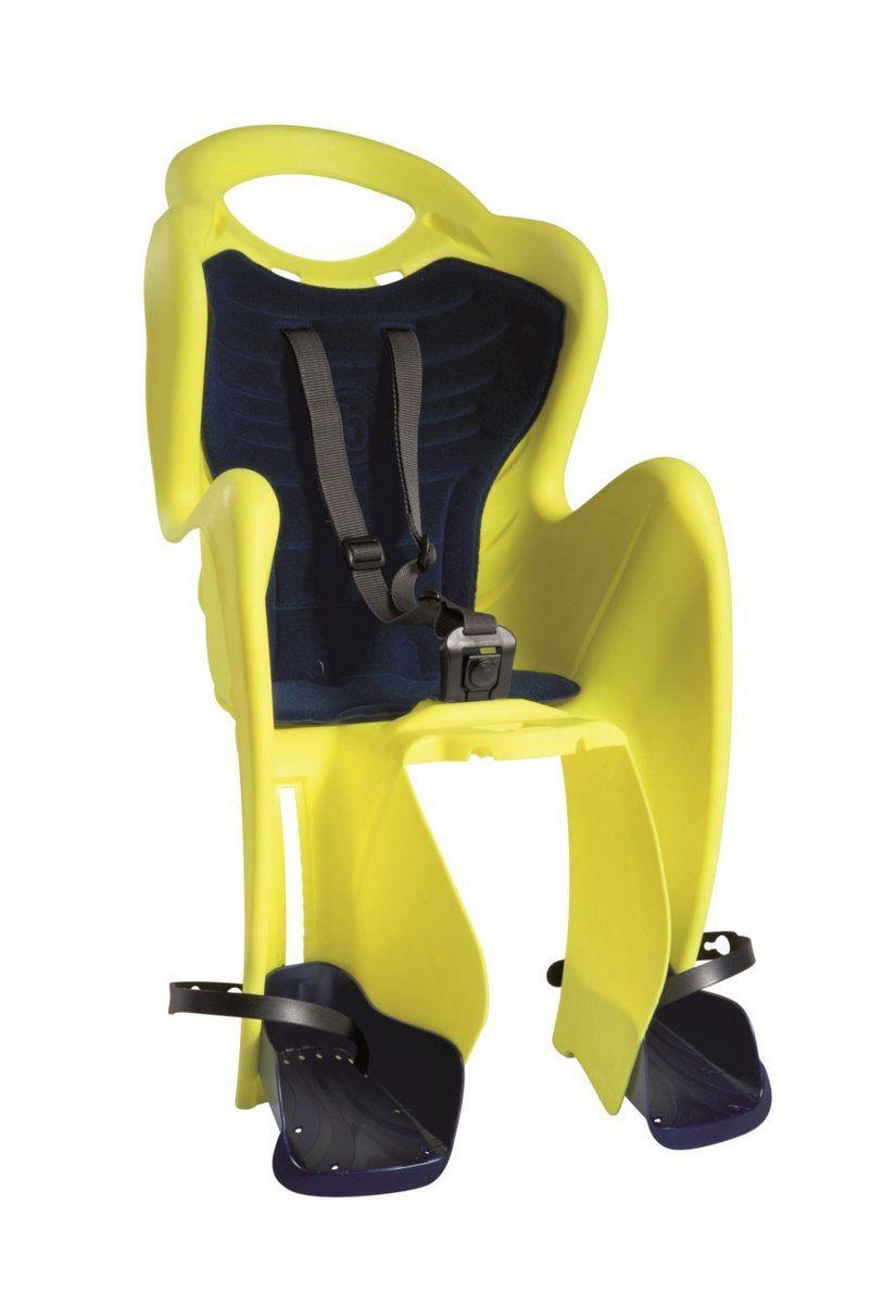 BELLELLI Сидение заднее Mr Fox Clamp Hi-Viz, светоотражающее, жёлтое, до 22кг  #1