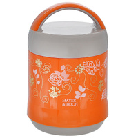 """Термос пищевой """"Mayer & Boch"""", цвет: оранжевый, серый, 1,2 л"""