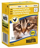 Консервы для кошек Bozita Feline, с курицей и индейкой в соусе, 370 г
