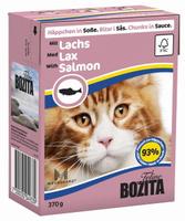 Консервы для кошек Bozita Feline, с лососем кусочки в соусе, 370 г