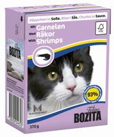 Консервы для кошек Bozita Feline, с креветками в соусе, 370 г
