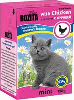 Консервы для котят Bozita mini, мясные кусочки в желе, с курицей, 190 г