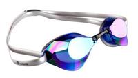 Очки для плавания стартовые MadWave Turbo Racer II Rainbow, цвет: синий