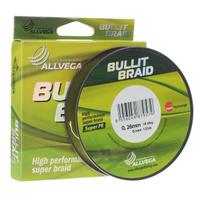 "Леска плетеная Allvega ""Bullit Braid"", цвет: ярко-желтый, 135 м, 0,26 мм, 18,6 кг"