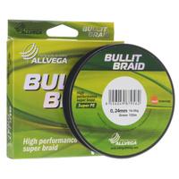 "Леска плетеная Allvega ""Bullit Braid"", цвет: темно-зеленый, 135 м, 0,24 мм, 16,5 кг"