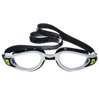 Очки для плавания Aqua Sphere Kaiman Exo, прозрачные линзы, цвет: белый, черный