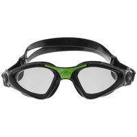 Очки для плавания Aqua Sphere Kayenne, прозрачные линзы, цвет: черный, зеленый