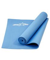 """Коврик для йоги Starfit """"FM-101"""", цвет: синий, 173 х 61 х 0,5 см"""