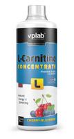 """Карнитин Vplab """"L-Carnitine Concentrate"""", концентрат, вишня-черника, 1 л"""