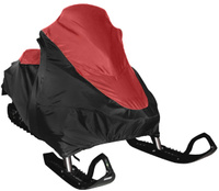"""Чехол транспортировочный """"AG-brand"""", для снегохода Ski-Doo SKANDIC SWT 600, цвет: черный, красный"""