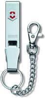 """Подвеска на ремень Victorinox """"Multiclip"""", с карабином, кольцом для ключей и цепочкой, цвет: серый металлик"""