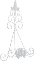 """Подставка для книги Феникс-Презент """"Листва"""", цвет: белый, 22 х 17 х 35 см"""