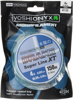 "Леска Yoshi Onyx ""Drake Super Line XT"", цвет: голубой, 150 м, 0,331 мм, 8,36 кг"