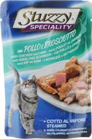 Консервы Stuzzy Speciality, для взрослых кошек, с курицей и ветчиной, 100 г