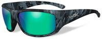 """Очки солнцезащитные WileyX """"Omega Polarized"""", для охоты, рыбалки и активного отдыха, цвет: Emerald Mirror, Amber (Kryptek Neptune)"""
