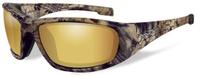 """Очки солнцезащитные WileyX """"Boss Polarized"""", для охоты, рыбалки и активного отдыха, цвет: Gold Mirror, Amber (Kryptek Highlander)"""