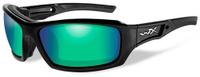 """Очки солнцезащитные WileyX """"Echo Polarized"""", для охоты, рыбалки и активного отдыха, цвет: Emerald Mirror, Amber"""