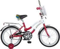 """Велосипед детский Novatrack """"Зебра"""", цвет: красный, белый, 16"""""""
