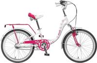 """Велосипед детский Novatrack """"Butterfly"""", цвет: темно-розовый, белый, 20"""""""