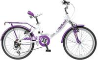 """Велосипед детский Novatrack """"Girlish Line"""", цвет: белый, сиреневый, 20"""""""