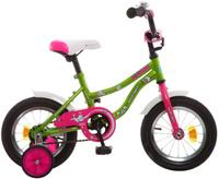 """Велосипед детский Novatrack """"Neptune"""", цвет: зеленый, розовый, 12"""""""