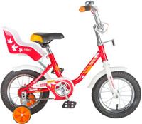 """Велосипед детский Novatrack """"Maple"""", цвет: красный, белый, 12"""""""