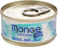 Консервы Monge Cat Natural, для кошек, с морепродуктами и курицей, 80 г