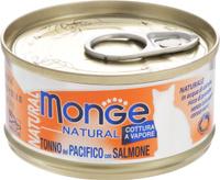 Консервы Monge Cat Natural, для кошек, с тихоокеанским тунцом и лососем, 80 г