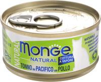 Консервы Monge Cat Natural, для кошек, с тихоокеанским тунцом и курицей, 80 г