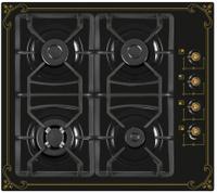 Варочная панель Ricci 37 RGN-650BL, Black, газовая