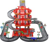 Паркинг 4-уровневый с дорогой и автомобилями, красный Wader (в коробке). Наши лучшие предложения
