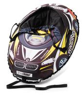Small Rider Надувные санки-тюбинг Snow Cars 3 с сиденьем и ремнями цвет черный желтый