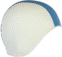 Шапочка для плавания Larsen Бабл-кап, цвет: белый, синий