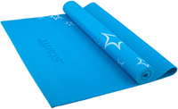 Коврик для йоги FM-102, PVC, 173x61x0,4 см, с рисунком, синий