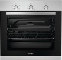 Духовой шкаф газовый встраиваемый Simfer B6GM12011, Silver