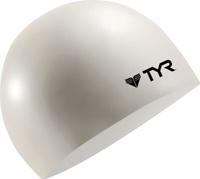 Шапочка для плавания Tyr Wrinkle Free Junior Silicone Cap, цвет: белый. LCSJR