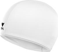 """Шапочка для плавания Tyr """"Solid Lycra Cap"""", цвет: белый. LCY"""