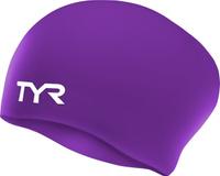 Шапочка для плавания Tyr Long Hair Wrinkle-Free Silicone Cap, цвет: фиолетовый. LCSL