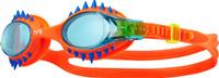 """Очки для плавания Tyr """"Swimple Spikes"""", цвет: голубой, оранжевый. LGSWSPK"""