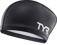 Шапочка для плавания Tyr Long Hair Silicone Comfort Swim Cap, цвет: черный. LSCCAPLH