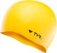 Шапочка для плавания Tyr Wrinkle Free Silicone Cap, цвет: желтый. LCS