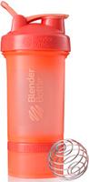 """Шейкер спортивный BlenderBottle """"ProStak Full Color"""", с контейнером, цвет: коралловый, 650 мл"""