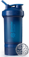 """Шейкер спортивный BlenderBottle """"ProStak Full Color"""", с контейнером, цвет: темно-синий, 650 мл"""